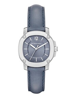 Burberry Britain - Stainless Steel & Leather Watch/Blue