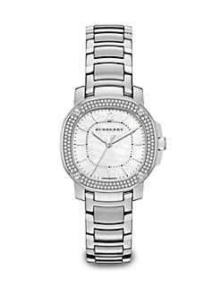 Burberry Britain - Diamond & Stainless Steel Watch