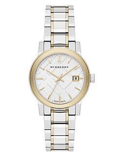 Burberry - Two-Tone Stainless Steel Watch/34MM
