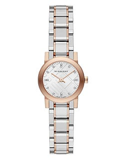 Burberry - Two-Tone Stainless Steel & Diamond Watch/Rose Goldtone
