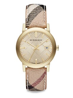 Burberry - Goldtone Stainless Steel Round Watch/38MM