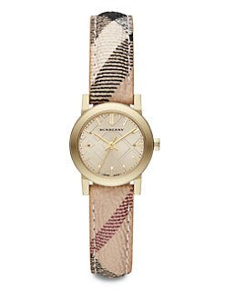 Burberry - Goldtone Stainless Steel Round Watch/26MM