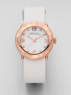 Marc by Marc Jacobs - Amy Rose Goldtone Stainless Steel & Leather Watch