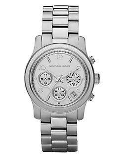 Michael Kors - Stainless Steel Chronograph Watch/Silvertone