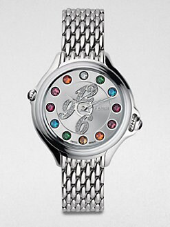 Fendi - Semi-Precious Multi-Stone, Diamond & Stainless Steel Watch/33MM