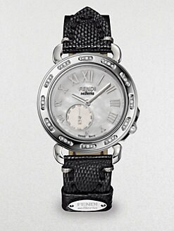 Fendi - Diamond & Mother-Of-Pearl Stainless Steel Watch