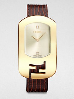 Fendi - Diamond & Goldtone Stainless Steel Watch/Brown