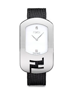 Fendi - Diamond & Stainless Steel Watch