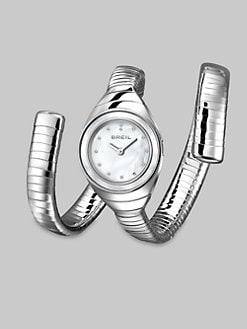 Breil - Swarovski Crystal Accented Stainless Steel Wrap Watch