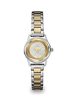 Breil - Swarovski Crystal Accented Two-Tone Stainless Steel Watch