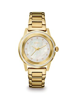 Breil - Swarovski Crystal Accented Goldtone Stainless Steel Watch