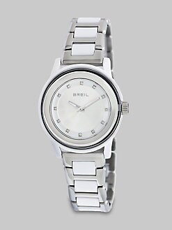 Breil - Swarovski Crystal Accented Stainless Steel Watch