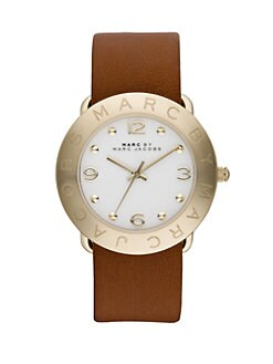 Marc by Marc Jacobs - Goldtone Stainless Steel & Leather Watch