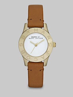 Marc by Marc Jacobs - Logo Accented Goldtone Watch/26MM