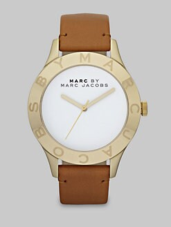 Marc by Marc Jacobs - Logo Accented Goldtone Watch/40MM