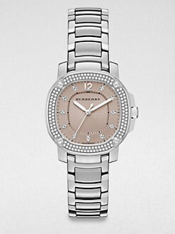 Burberry Britain - Stainless Steel and Diamond Bracelet Watch