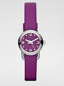 Marc by Marc Jacobs - Stainless Steel & Leather Watch/Purple