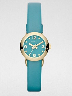 Marc by Marc Jacobs - Goldtone Stainless Steel & Leather Watch/Teal