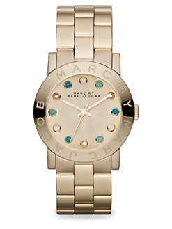 Marc by Marc Jacobs - Goldtone Stainless Steel & Crystal Watch/Gold Dial