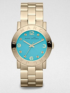 Marc by Marc Jacobs - Goldtone Stainless Steel & Crystal Watch/Aqua Dial