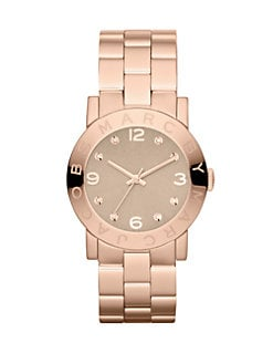Marc by Marc Jacobs - Rose Goldtone Stainless Steel & Crystal Watch/Wheat Dial