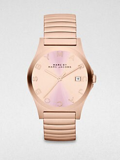 Marc by Marc Jacobs - Rose Goldtone Stainless Steel Watch