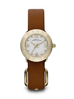 Marc by Marc Jacobs - Round Gold-Finished Stainless Steel Strap Watch