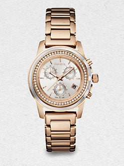 Breil - Swarovski Crystal & Rose Goldtone Stainless Steel Chronograph Watch