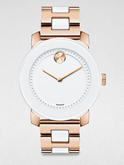 Movado - Rose Goldtone IP Stainless Steel & TR90 Watch