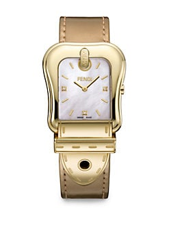 Fendi - Diamond-Accented Goldtone Strap Watch