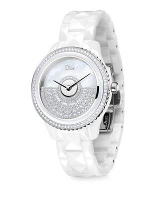 Dior VIII Grand Bal Diamond, Mother-Of-Pearl & Ceramic Bracelet Watch