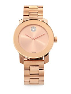 Movado - Rose Goldtone IP Stainless Steel Watch