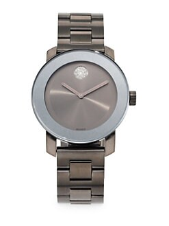 Movado - Grey IP Stainless Steel Watch