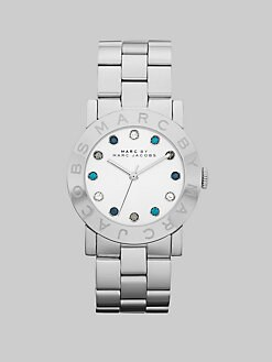 Marc by Marc Jacobs - Multicolored Stone Accented Stainless Steel Watch/36MM