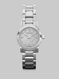Burberry - Stainless Steel Check Dial Watch
