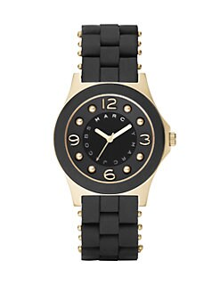 Marc by Marc Jacobs - Pelly Silicon Watch/Black & Gold