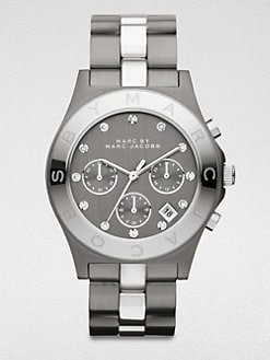 Marc by Marc Jacobs - Two-Tone Stainless Steel Chronograph Watch/Gunmetal