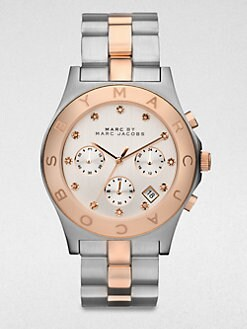 Marc by Marc Jacobs - Two-Tone Stainless Steel Chronograph Watch/Rose Goldtone