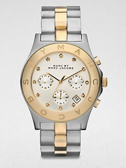 Marc by Marc Jacobs - Two-Tone Stainless Steel Chronograph Watch/Silver-Goldtone
