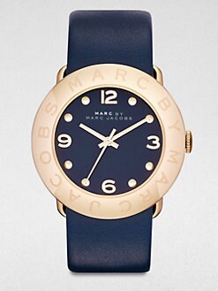 Marc by Marc Jacobs - Goldtone Stainless Steel Watch/Navy