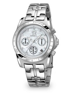 Breil - Mother-of-Pearl & Stainless Steel Chronograph Watch