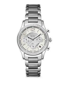 Breil - Stainless Steel Sparkle-Framed Chronograph Bracelet Watch