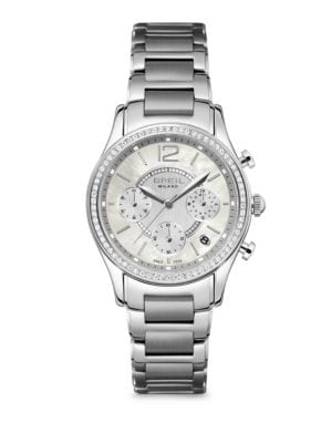 Miglia Crystal & Stainless Steel Chronograph Bracelet Watch