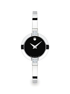 Movado - Diamond & Stainless Steel Bangle Watch