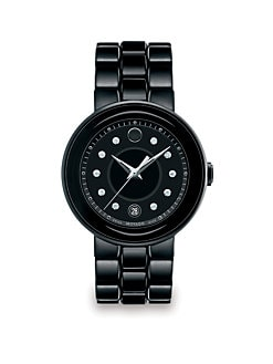 Movado - Diamond, Ceramic & PVD Stainless Steel Watch