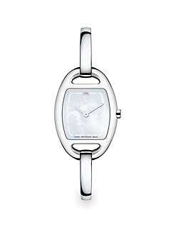Movado - Mother-of-Pearl & Stainless Steel Bangle Watch