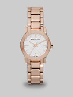Burberry - Rose Goldplated Stainless Steel Link Bracelet Watch