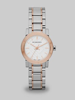 Burberry - Two-Tone Stainless Steel Link Bracelet Watch