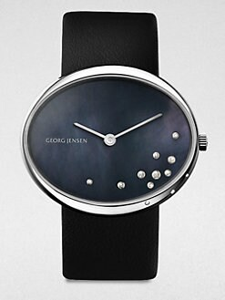 Georg Jensen - Diamond Interchangeable Stainless Steel Watch