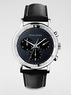 Georg Jensen - Diamond Stainless Steel Chronograph Watch